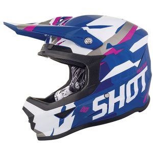 Casque cross FURIOUS SCORE - BLUE PINK GLOSSY 2019 Bleu