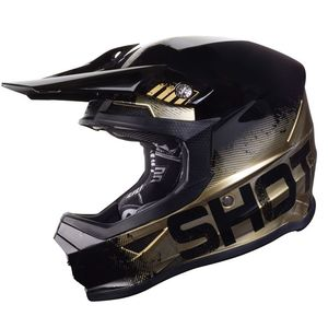 Casque cross FURIOUS COALITION - CHROME SHELL - SILVER GLOSSY - LIMITED EDITION 2019 Gold Glossy