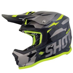 Casque cross FURIOUS KID SCORE - GREY NEON YELLOW GLOSSY  Grey Neon Yellow Glossy