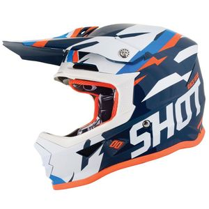 Casque cross FURIOUS KID SCORE - BLUE NEON ORANGE  Blue Neon Orange