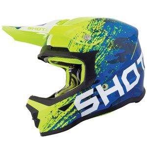 Casque cross FURIOUS KID COUNTER - BLUE NEON YELLOW  Blue Neon Yellow