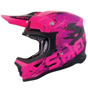 Casque Cross Shot Furious Kid Counter - Pink 2019