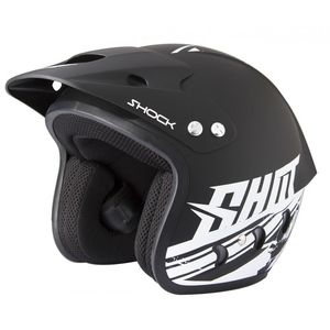 Casque trial SHOCK - DECO BLACK MATT 2019 Noir mat