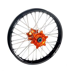 Roue A60 avant dimension 21x1.60 noir/orange
