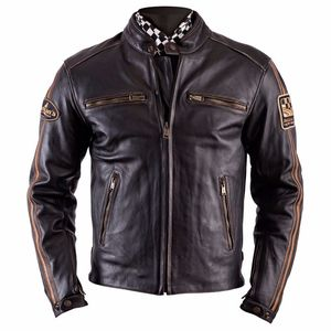 Blouson ACE - cuir OLDIES  Marron