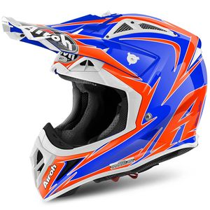 Casque cross AVIATOR 2.2 - EDGE  - ORANGE BLUE 2017 Bleu