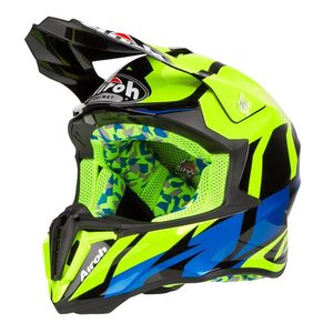 Casque cross TWIST - GREAT - YELLOW GLOSS 2019 Jaune/bleu