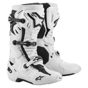 Bottes cross TECH 10 - SUPERVENTED - WHITE 2021 White