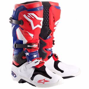 Bottes cross TECH 10 - Edition Limitée MXON NATION  2017 Blue/White/Red