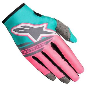 Gants cross RADAR FLIGHT- LIMITED EDITION - INDY VICE 2018 Gray Pink Turquoise