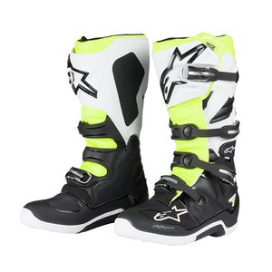 Bottes Cross Alpinestars Tech 7 Black White Yellow Fluo 2018
