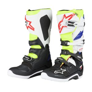 Bottes cross TECH 7 WHITE YELLOW FLUO BLUE 2018 White/Yellow