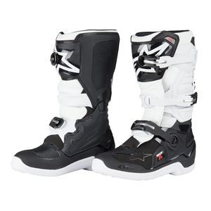 Bottes cross TECH 7S BLACK WHITE ENFANT  Black/white