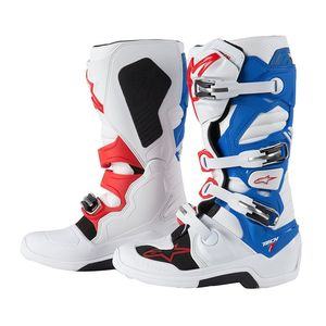 Bottes cross TECH 7 WHITE/BLUE/RED 2017 Blanc/Bleu/Rouge