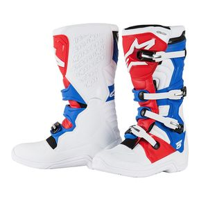 Bottes cross TECH 5 - WHITE/RED/BLUE  2017 Blanc/Rouge/Bleu