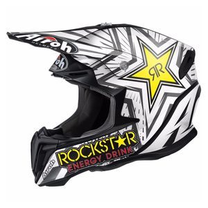 Casque cross TWIST - ROCKSTAR  - MATT 2018 Noir/Blanc
