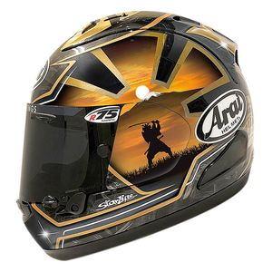 Casque RX7-V  - PEDROSA SPIRIT  Noir / Or / Orange