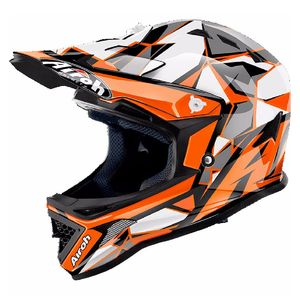 Casque cross ARCHER - CHIEF  - ORANGE  Orange