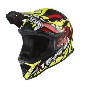 Casque cross ARCHER - GRIM GLOSS  Noir/Jaune