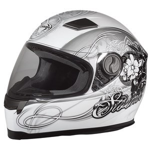 Casque AREA - GLAMS  Blanc/Noir