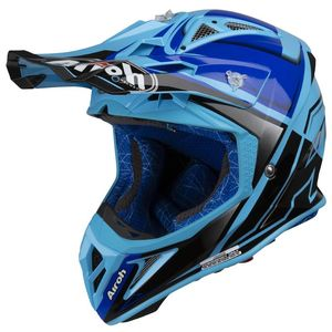 Casque cross AVIATOR 2.2 - CHECK - BLUE GLOSS 2019 Bleu
