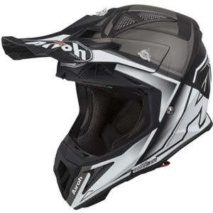 Casque cross AVIATOR 2.2 - CHECK - WHITE MATT 2019 Blanc/Noir