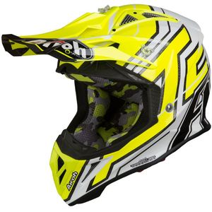 Casque cross AVIATOR 2.2 - CAIROLI 019 - GLOSS 2019 Noir/Jaune