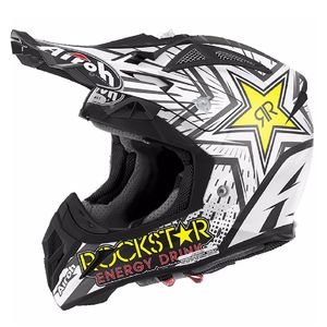 Casque cross AVIATOR 2.2 - ROCKSTAR  - MATT 2019 Noir/Blanc