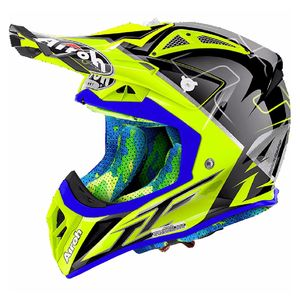 Casque cross AVIATOR 2.2 - CAIROLI MANTOVA - 2018 Gris/Jaune