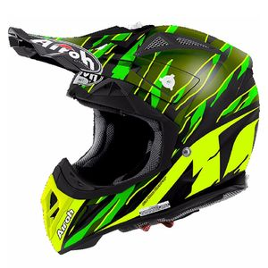 Casque cross AVIATOR 2.2 - THREAT  - GREEN MATT 2017 Vert/Noir