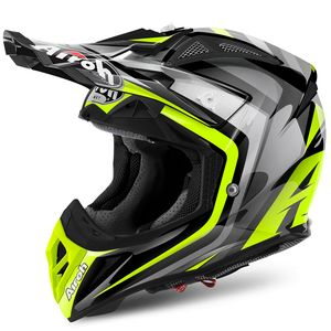 Casque cross AVIATOR 2.2 WARNING YELLOW GLOSS 2018 Jaune