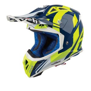 Casque cross AVIATOR 2.3 - BIGGER - BLUE GLOSS - AMSS 2019 Bleu/Jaune