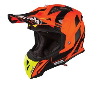 Casque cross AVIATOR 2.3 - BIGGER - ORANGE MATT - AMSS 2019 Orange/Noir