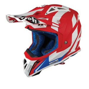 Casque cross AVIATOR 2.3 - BIGGER - RED MATT - AMSS 2019 Rouge/Bleu