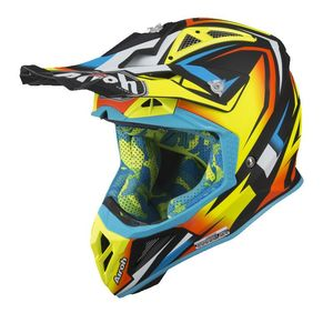 Casque cross AVIATOR 2.3 - FAME - YELLOW GLOSS - AMSS 2019 Jaune/bleu