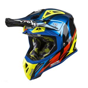 Casque cross AVIATOR 2.3 - GREAT - BLUE GLOSS - AMSS 2019 Bleu/Orange