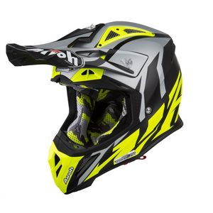 Casque cross AVIATOR 2.3 - GREAT - YELLOW MATT - AMSS 2019 Gris/Jaune