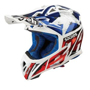 Casque cross AVIATOR 2.3 - SIX DAYS 2019 - AMSS 2019 Bleu/Rouge