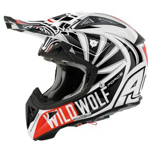 Casque cross AVIATOR 2.1 - WILD WOLF 2014 Noir/Blanc