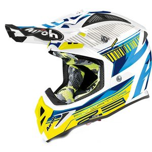 Casque cross AVIATOR 2.3 - NOVAK - CHROME BLUE - AMSS 2020 Chrome Blue