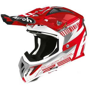 Casque cross AVIATOR 2.3 - NOVAK - CHROME RED - AMSS 2020 Chrome Red