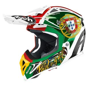 Casque cross AVIATOR 2.3 - SIX DAYS 2020 PORTUGAL - AMSS 2020 Chrome Red Green