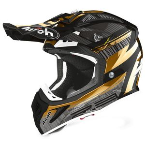 Casque cross AVIATOR 2.3 - NOVAK - CHROME GOLD - AMSS 2020 Chrome Gold