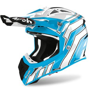 Casque cross AVIATOR ACE - ART - AZURE MATT 2021 Blue