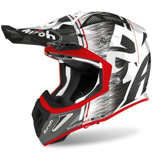 Casque cross AVIATOR ACE - KYBON - RED GLOSS 2021 Red
