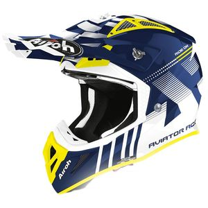 Casque cross AVIATOR ACE - NEMESSI - BLUE GLOSS 2021 Blue