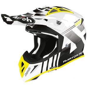 Casque cross AVIATOR ACE - NEMESSI - WHITE GLOSS 2021 White