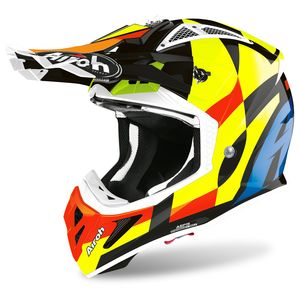 Casque cross AVIATOR ACE - TRICK - MULTI GLOSS 2021 Multicolore
