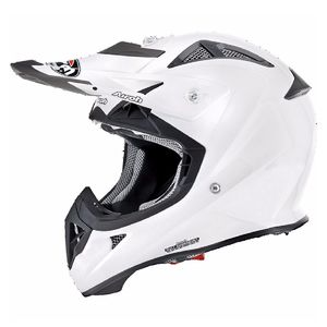 Casque cross AVIATOR J - COLOR - WHITE GLOSS  Blanc