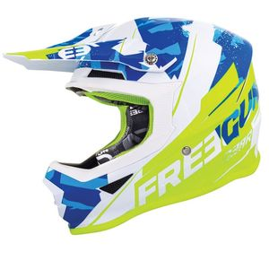 Casque cross XP4 - HERO - BLUE NEON YELLOW GLOSSY 2019 Blue Yellow Neon Glossy
